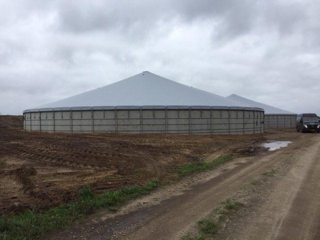 2x3500 m3 tanke i Nørre Nebel - Agro Top