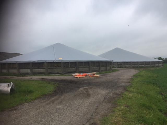 To tanktoppe til henholdsvis 4000 m3 og 1800 m3 tanke i Varde - Agro Top