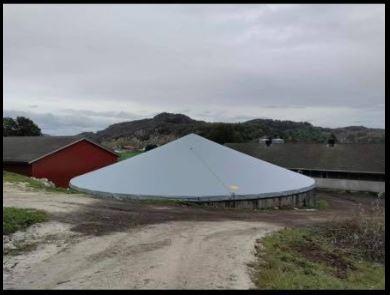 Tankoverdækning på 37 Spæncom tank i Egersund, Norge