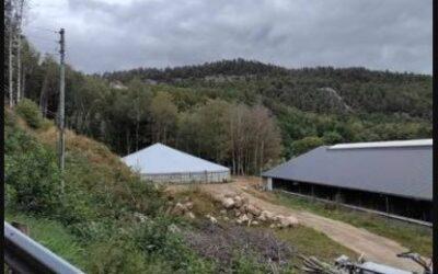 Overdækning på 41 element Spæncom tank i Lindesnes, Norge